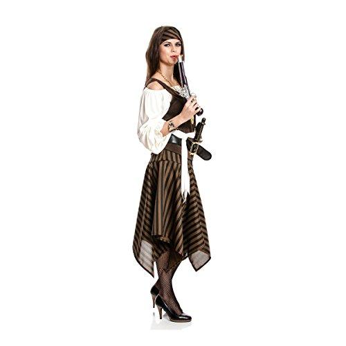 Kostümplanet® Piratin-Kostüm Damen Piraten-Kostüm Größe 32/34