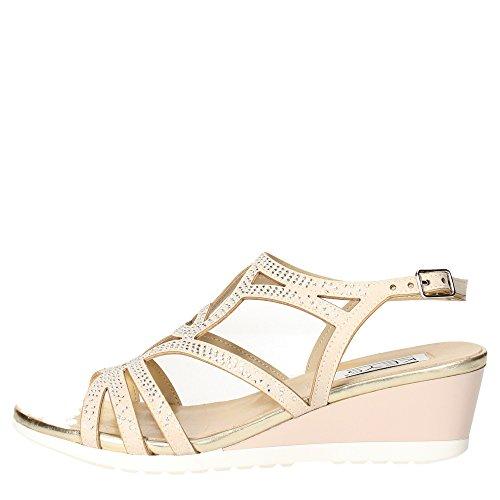 KEYS 5436 taupe scarpe donna sandalo cinturino zeppetta strass Beige