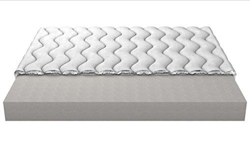 Memory Foam-Matratze mit High Resilience Grunde Silk Schaum und Polyurethanschaum 14 cm 3-Schicht gesteppt Moon Abdeckung 140x200 cm (Memory-foam-matratze Abdeckung)