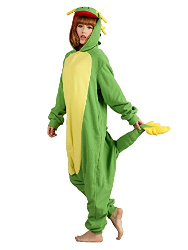 annel Tier Cosplay Drache Jumpsuit Pyjamas Kostüme Siamesische Kleidung M (Beste Weibliche Halloween-kostüme)