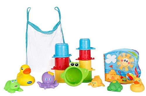 Playgro Badespielzeug-Set, 16-teilig, Ab 6 Monaten, BPA-frei, Playgro Badespielzeug Geschenkset, 40115