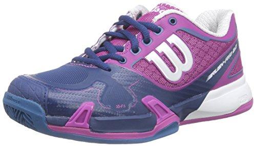 Wilson RUSH PRO 2.0 Clay Court W DARK PEONY 3.5, Damen Tennisschuhe Mehrfarbig (DARK PEONY)