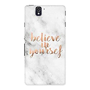 Neo World Believe in Yourself Back Case Cover for Sony Xperia Z