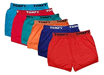Tomfy Kids Boys Cotton Boxers Combo 3-12 Years (Pack of 6)