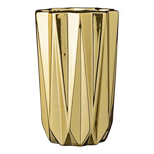 Vase Fluted (Bloomingville Vase Fluted Gold)