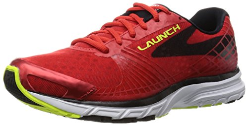 Brooks Herren Launch 3 Laufschuhe, Rot (HighRiskRed/Black/Nightlife), 46 EU