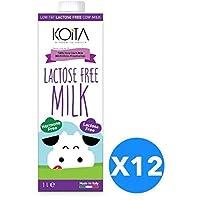 Koita Lactose Free Non Hormone Liquid Milk - 1 Liter, Pack of 12