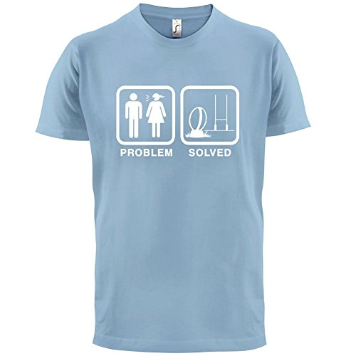 Problem gelöst - Rugby - Herren T-Shirt - 13 Farben Himmelblau