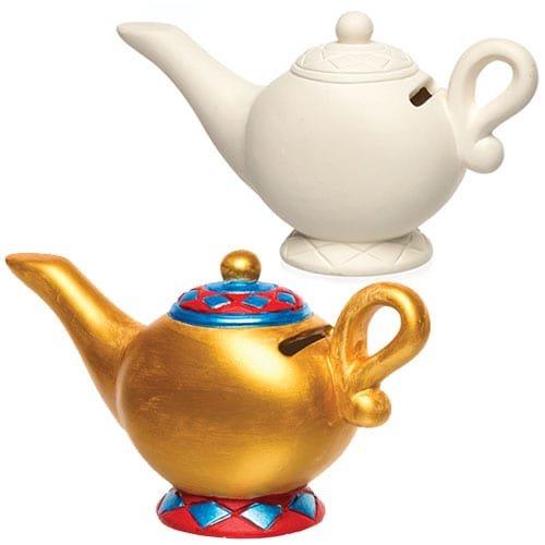 Baker Ross Huchas de cerámica en forma de lámpara mágica que los niños pueden decorar - Juego de manualidades infantiles con porcelana (pack de 2)