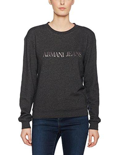 Armani Jeans Damen Sweatshirt 3Y5M165J1GZ, Schwarz (Nero Melange 3201), 44 (Armani Jeans Damen Pullover)