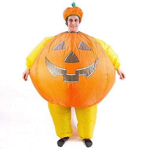 Halloween Kürbis Kostüm ENZO, selbstaufblasend - lustiges Kostüm - showking
