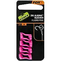 Fox Edges Zig Aligna Kit/Schiuma/Maniche - Fluoro Colori - Carpa / Fiume Pesca - Fluoro Rosa, astuccio