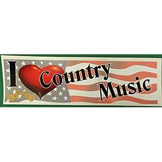 Advanced Printing I Love Country Music fun car 200x75mm bumper sticker