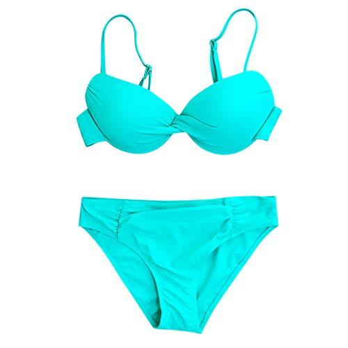 Sexy Badebekleidung Frauen Badeanzug Rüschen Volant Push Up Flower Print Bikini Set Bedruckter Bikini mit Doppelrüschen Swimsuit swimanzug Swimwear -