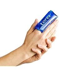 Torex GEL tubular dedo Terapia frío-calor reutilizables profesional para dedo slogato, inflado, post-cirugía tubular con protector de cuero