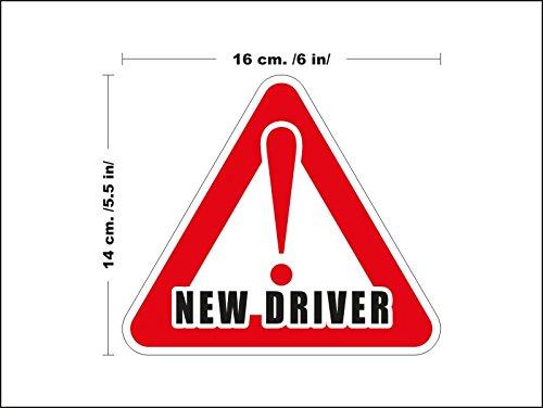 lepni.me N3131 Neuer Treiber Sicherheits-Zeichen Auto Abnehmbare Wandaufkleber Aufkleber Zimmer Neuer Treiber Junge Fahrer- Auto-Dekor