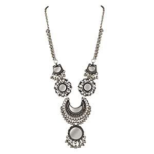 Buy zephyrr pendant for women silverjan 1232 online at low zephyrr jewellery afghani german silver beaded long pendant necklace with mirrors aloadofball Image collections