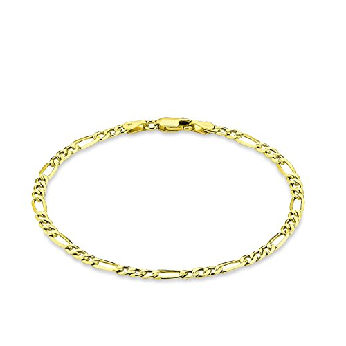 amor Damen Herren Unisex-Armband Figaro 21cm 333 Gelbgold Preisvergleich