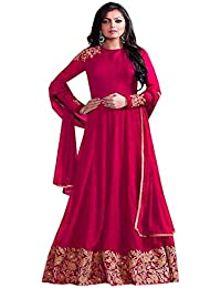 New Collection Pink Color Georgette Embroidered Salwar Suit