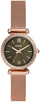 FOSSIL WOMENS CARLIE MINI STAINLESS STEEL WATCH - ES4957