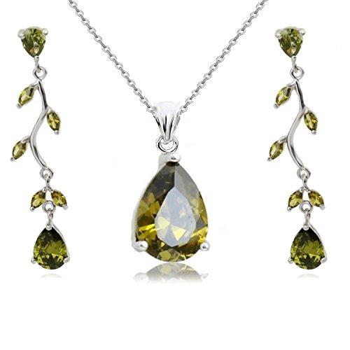 18 ct Chapado oro Blanco lágrimas Crystals from Swarovski