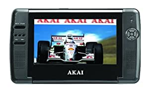 """Akai ACVDS735 Dessus de table 7"""" Noir Lecteur DVD/Blu-Ray portable - Lecteurs DVD/Blu-Ray portables (17,8 cm (7""""), LCD, 16:9, 0,5 W, MPEG4, MP3)"""