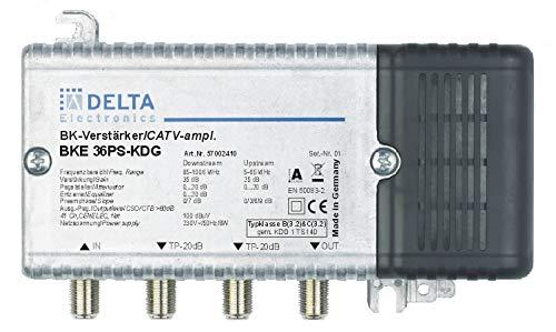 DCT Delta-BKE 36PS KDG VPE: 1, Hausanschlussverstärker KDG B (3.2) und C (3.2) 1GHz 35dB, RW 65MHz Verstellvorrichtung Ebene 25dB