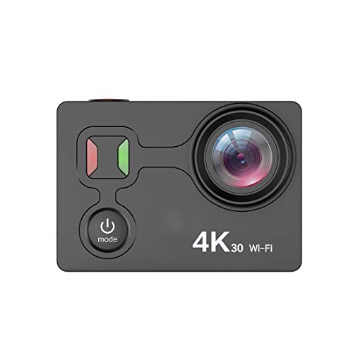 wasserdichte Digitalkamera mit Touch Screen 4K/25fps HD Video 12MP Fotos Live-Streaming-Remote Control Sports Camera mit Zubehör Kit,Black -