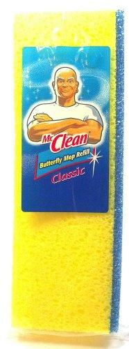 Mr. Clean Schmetterling Mop Refill Klassische absorbierender Schwamm ermöglicht für schnellere Reinigung Sicher für die nicht Wachs Böden je (1) Mr Clean Mop