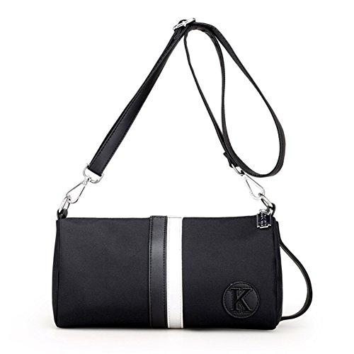 Ladies singola borsa a tracolla,borsa di tela,messenger bag-Rosso bianca