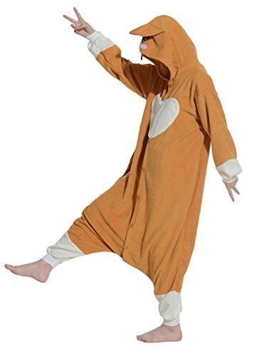 Fandecie Cosplay Animal pigiami Sleepwear Nightclothes Loungewear mezzo adatto per 160-175cm Altezza Khaki (Altezza: 160-175cm)