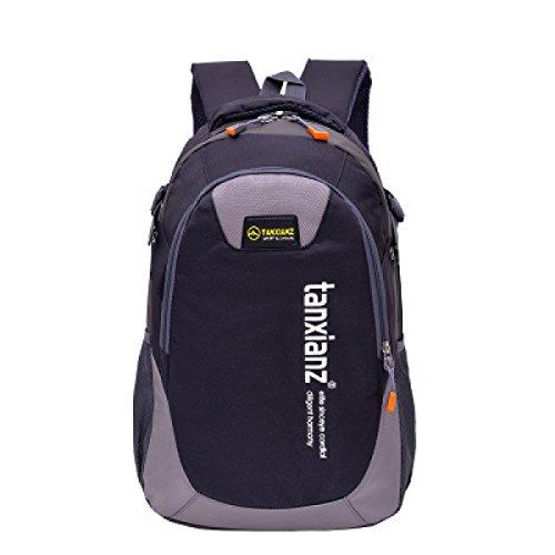 LQABW Spielraum-Schulter-Lichtwasserdichte Sport Im Freien Backpacking Camping Bergsteigen Wandern Rucksack Tasche Black