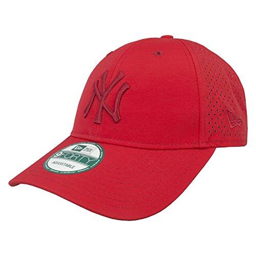 New Era Mlb Tonal Perf Neyyan Sca - Schirmmütze Linie New York Yankees für Herren, Farbe Rot, Größe OSFA (Tonale Linien)
