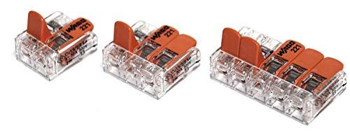 WAGO Connettori 222-412 confezione da 10 2-Port leva CAGE morsetto morsettiera