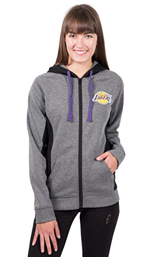 Zip-jacke Charcoal (UNK Damen ful1485 F NBA Dime Full Zip Fleece Hoodie Sweatshirt Jacke, Damen, FUL1485F, Heather Charcoal)