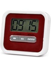 TRIXES Temporizador de Cocina Digital Cronómetro con Alarma Alimentos Pitido Ejercicios, Sujetador Magnético