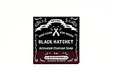 Latika BEAR WHISPERER Rosmarin, Eucalyotus , Fichte Aktiv-Bambus-Kohle Schwarze Handgemachte Seifen, ca. 165 gr Hand made Aktivkohle Bar Soap.