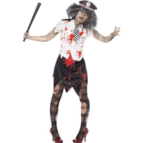 üm Zombie Polizistin blutig als Untote Größe M ()