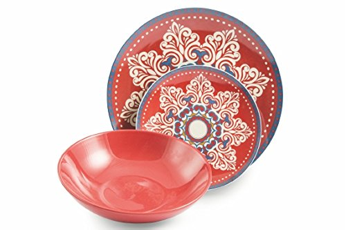 VILLA D'ESTE HOME Vajilla 18 Piezas Shiraz Multicolor