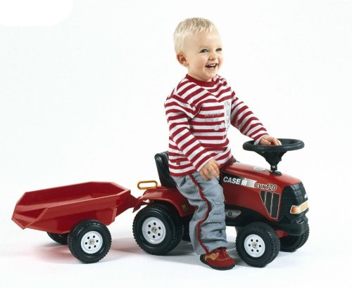 Image of Falk Case IHCVX 120 Tractor and Trailer Ride-on