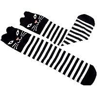 BESTOYARD Streifen Kniestrümpfe Kinder Baby Niedliche Overknees Strümpfe Unisex Baumwolle Lange Socken Weihnachtsstrümpfe (Stripe Cat)