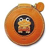 Rana animal moneda cambio/funda/Monedero de piel auténtica * VANCA * Hecho a mano en Japón