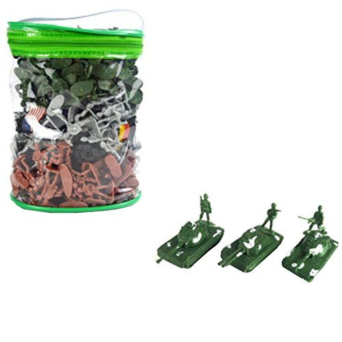 Toy Soldiers Army Men Action-Figur-Models Toy Geschenke / Toy Tanks -300PCS (Male Model-figur)