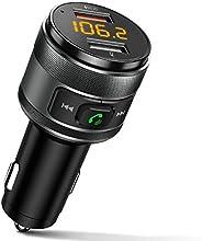 جهاز إرسال FM Bluetooth للسيارة QC3.0 محول بلوتوث لاسلكي راديو FM مشغل موسيقى مع عدة مكالمات اليدين و 2 منافذ