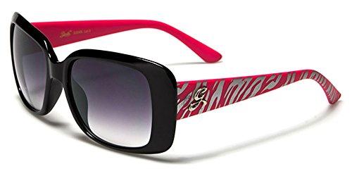 Giselle Damen Sonnenbrille Mehrfarbig HOT PINK/SILVER ZEBRA
