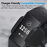 Cubevit Fitbit Charge 3 Screen Protector, [6-Pack] Charger Friendly/NO-Peeling off/Bubble Free TPU Film Screen Cover for Fitbit Charge 3 Smart Watch