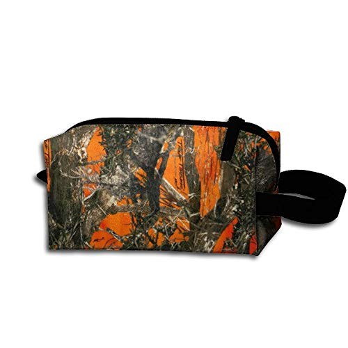 Travel Makeup Black and Orange Quilting Fabric Shop Online at Fabric.com(2) Beautiful Waterproof Cosmetic Bag Quick Makeup Bag Pencil Case
