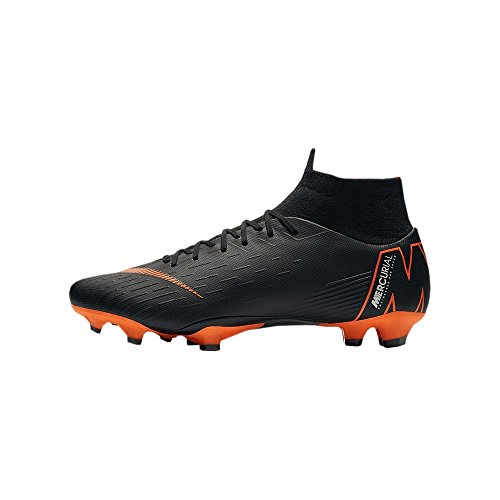 Nike mercurial superfly vi pro fg, scarpe da calcio uomo, nero schwarz, 42 eu
