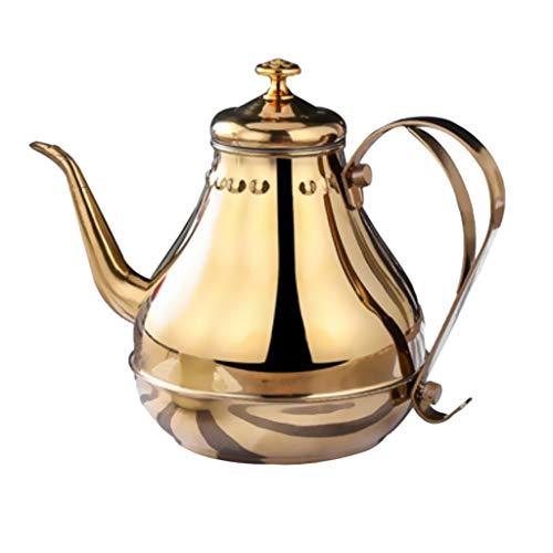 F Fityle Vintage Wasserkocher Edelstahl Teekessel Schwanenhals Wasserkessel für Gas-, Strom- und Induktionsöfen - 1,8 l