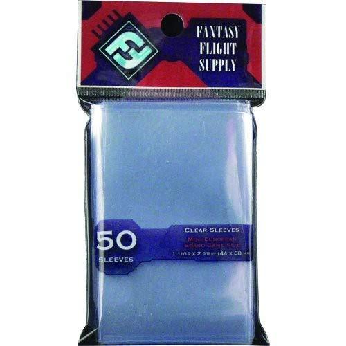 Fantasy Flight Games, EU-Kartenhüllen, transparent, klein, 44 x 68 mm, FFG Red Label FFS02, 50 Stück